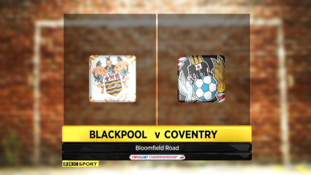 Blackpool 2-1 Coventry