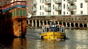 Bristol ferry in the harbour