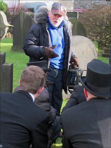 Sir David Jason filming Pearly Gates