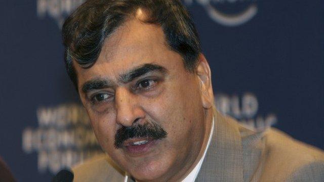 Pakistani Prime Minister Syed Yousaf Raza Gilani