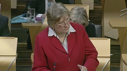 Conservative MSP Annabel Goldie led the debate