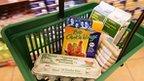 Food in German supermarket basket - file pic