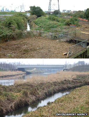 Before and after, along the Lea
