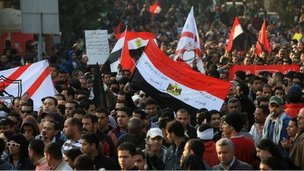 Marchers in Cairo (2 February)
