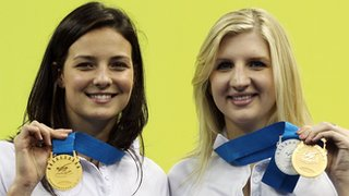 Keri-Anne Payne and Rebecca Adlington