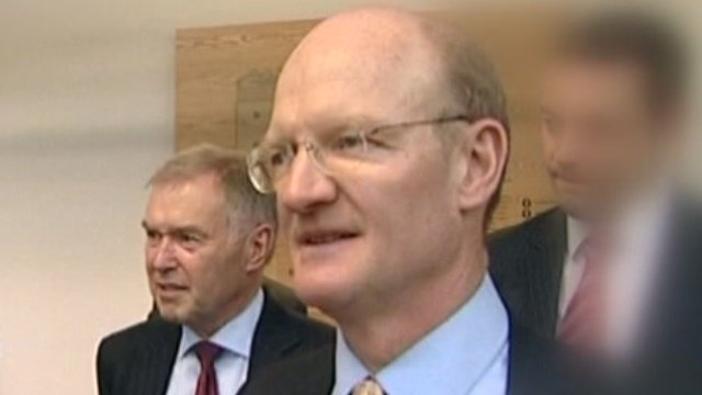 Ed Lester, chief executive of the Student Loans company and Universities Minister David Willetts