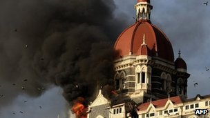 Taj Hotel in Mumbai during the 2008 attack