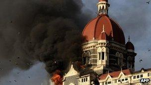 Taj Hotel in Mumbai during the 2008 attack