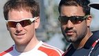 Eoin Morgan (left) kept his place ahead of Ravi Bopara