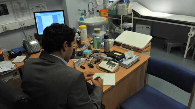 GP in surgery