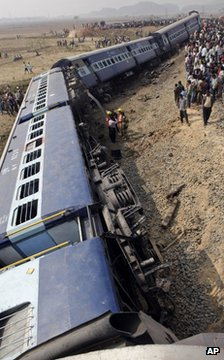 Train crash scene in Assam, 3 Feb