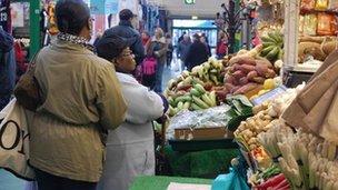 A stall in Kirkgate Market