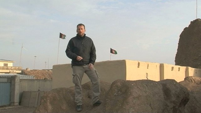 BBC Scotland reporter Cameron Buttle in Afghanistan