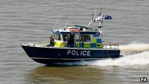 Police boat on River Thames