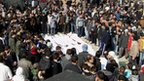 A mass funeral in Homs, 4 February