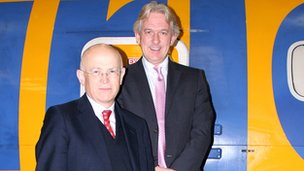 Jon Moulton with Aurigny MD Malcolm Hart