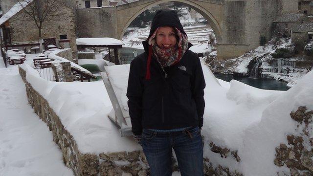 Katie McCraw in Mostar