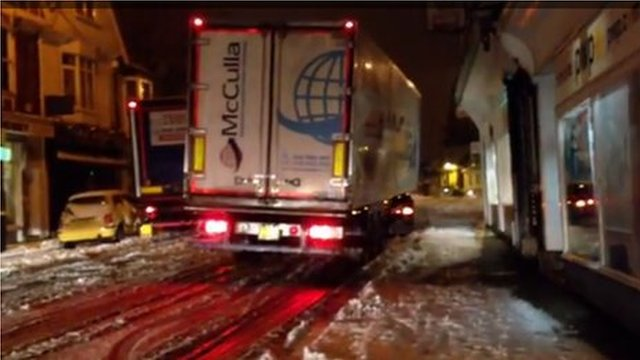 Lorry stuck in Reigate