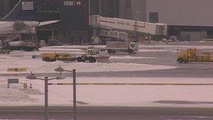 Heathrow in the snow