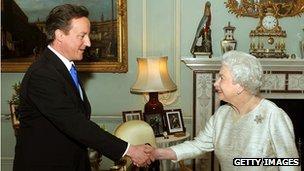 David Cameron and Queen Elizabeth II