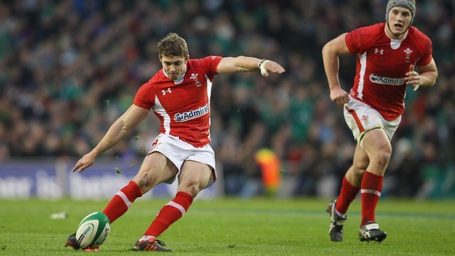 Leigh Halfpenny scores a last-gasp penalty to seal victory over Wales