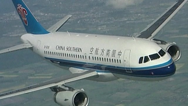 A China Southern Airlines plane in flight