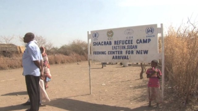 Entrance to refugee camp