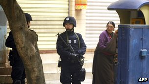 Security has been tightened in areas like Chengdu in Sichuan province.