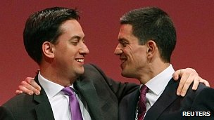 Ed and David Miliband at the 2010 Labour conference