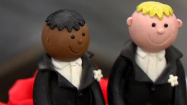 Cake with two men