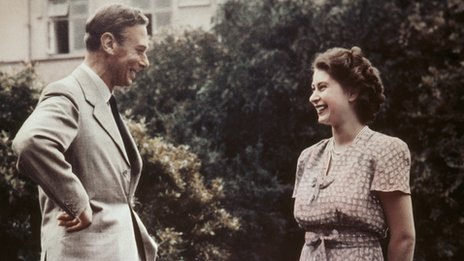 George VI with Princess Elizabeth