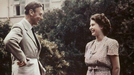 George VI with Princess Elizabeth