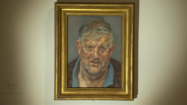 Lucian Freud's portrait of David Hockney