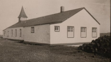 Goose Green school house, 1952