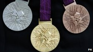 Bronze, Silver and Gold medals