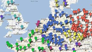 Acta protests on Google Maps