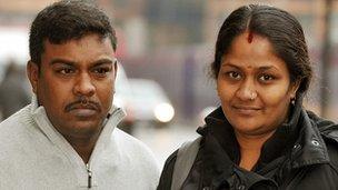 Jeyakumar Ghanasekaram and Sharmila Kamaleswaran (right) the parents of Thusha Kamaleswaran