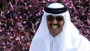 Qatari Crown Prince Sheikh Tamim bin Hamad al-Thani