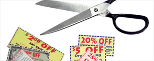 Scissors and coupons