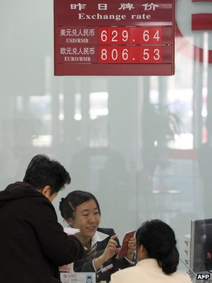 Yuan exchange rate