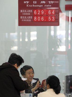 Yuan exchange rate