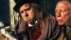 Timothy Spall as Mr Venus and Kenneth Cranham as Silas Wegg in the BBC adaptation of the novel by Charles Dickens
