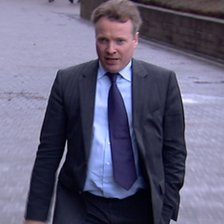 Craig Whyte, arriving at Glasgow Sheriff Court