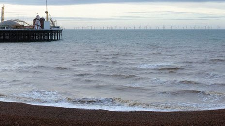 Computer image of windfarm off Brighton