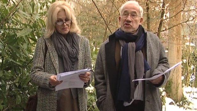 Joanna Lumley and Simon Callow