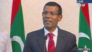 Mr Nasheed said he did not want to run the country with an iron fist in his resignation speech