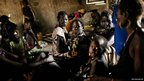 Displaced women from the Murle tribe take shelter in a primary school in the town of Pibor, South Sudan