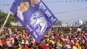 Maya's supporters at Sitapur