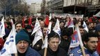 Greek unions on strike