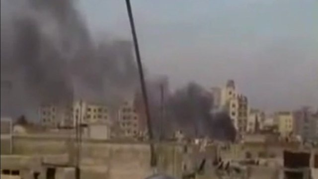 Smoke over Homs